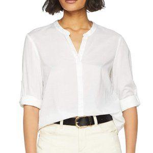 Women's long sleeve V-neck shirt